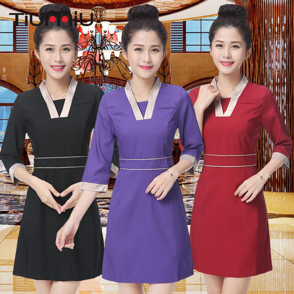 2018 Lab Dress Hospital Doctor Nurse Uniform Women Long-sleeve Medical Uniform Attire Beauty Salon SPA Fashion Workwear Uniforms