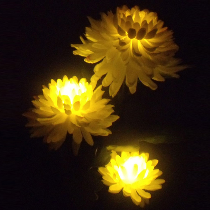 Outdoor Solar Powered LED Light Chrysanthemum Flower Lamp for Yard Garden Sunlight Landscape Decorative Night Lamp xy205 40lm blue light wind powered decorative led lamp for car silver 2 pcs