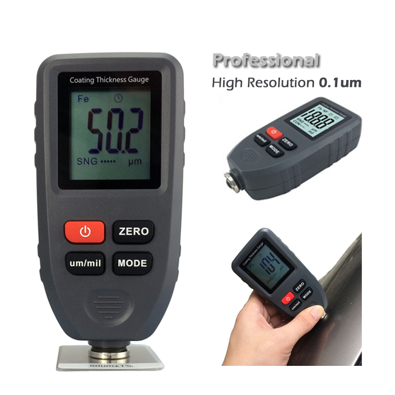 TC 100 Digital Coating Thickness Gauge Tester ultra precision 0 1um Resolution Measuring Fe NFe Coatings