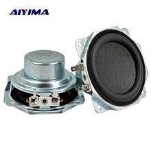 AIYIMA 2 шт. 3 дюймовый звуковой динамик 8 Ом 50 Вт Неодимовый магнитный 30 ядерный динамик s СЧ бас резиновый край громкий динамик DIY