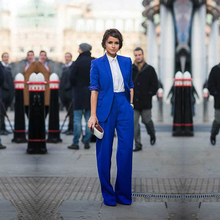 Women Pant Suits Casual Office Business Suits Formal Work Wear Royal Blue Elegant Pant Suits Summer Spring Custom Made