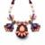 2014 Reina del Collar de Joyería de Las Mujeres Coloridas Flores de la Cinta de Piedra Coreano