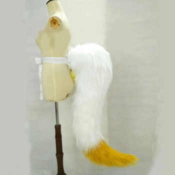Coshome LOL Ahri Cosplay Costume Tails Sexy Fox Nine Tailed Upgraded Transform-model Plush Tail 85CM