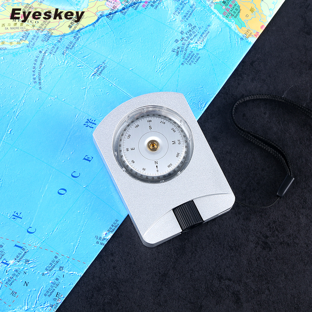 Eyeskey Professional Waterproof Compass Aluminum Alloy Material Hand-held Survival Compass Positioning eyeskey professional aluminum sighting compass clinometer slope height measurement map compass waterproof