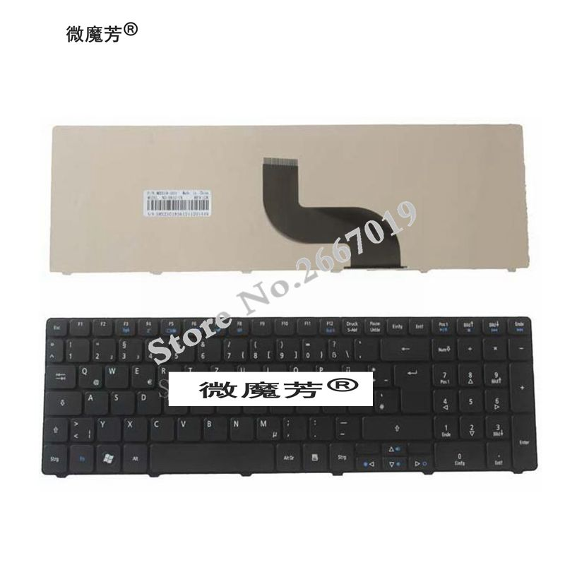 German laptop Keyboard for Acer Aspire 5750 5750G 5253 5333 5340 5349 5360 5733 5733Z 5750Z <font><b>5750ZG</b></font> 7745 emachines e644 GR Black image