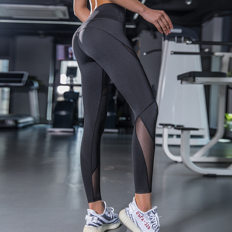 2019 New Black Blue Mesh Seamless Leggings Sport Women Fitness Sports Wear for Women Gym Leggings Sport Femme Yoga Pants Women