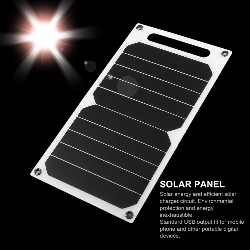 Portable 5v 5w Solar Charging Panel Power Usb Charger For Cell Phone Battery Circuit Package Included 1 X 4 Suckers