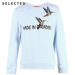 Image 5 - 選択綿 100% 刺繍男性の春プルオーバーパーカーメンズラウンドネックトレーナー服 S