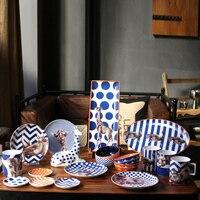 Европейский стиль Творческий животных серии свадебный подарок керамика столовая посуда наборы для ухода за кожей 18 шт. фарфор посуда кружк
