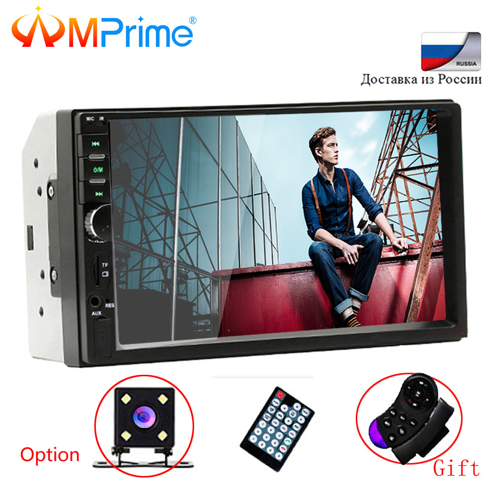 AMPrime 2din Mirror Car Audio 7'' 2 DIN Car Multimedia Player Autoradio Stereo Touch Auto Radio MP5 Player Bluetooth TF USB FM
