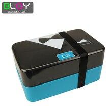 Japanischen Stil 2 Schicht Lunchbox Gürtel Bento lunchbox lunchbox lunchbox lebensmittelbehälter für erwachsene 730 ml