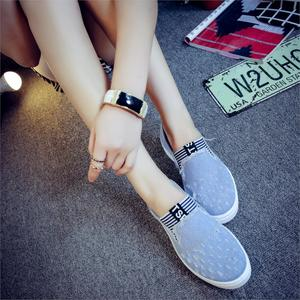 Image 2 - High Quality Womens Jeans Shoes flats Fashion Casual Denim Shoes Soft Soles Students Canvas Shoes Breathable Orientpostmark