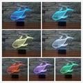 Ballena encantadora 3D Led Luz de La Noche de Proyección Iluminación Animal Bebé de Noche Lámpara de Mesa USB LLEVÓ Luminaria Electrónica Gadget Decor