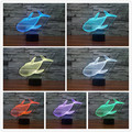 Lovely Whale 3D Led Night Light Lighting Animal Projection Baby Bedside Table Lamp USB LED Luminaria Electronic Gadget Decor