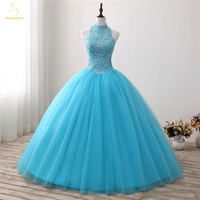 Bealegantom 2018 Stock Red Ball Gown Quinceanera Dresses Beaded Sequined Sweet 16 Dress For 15 Years Ship 1 2 Day QA1512
