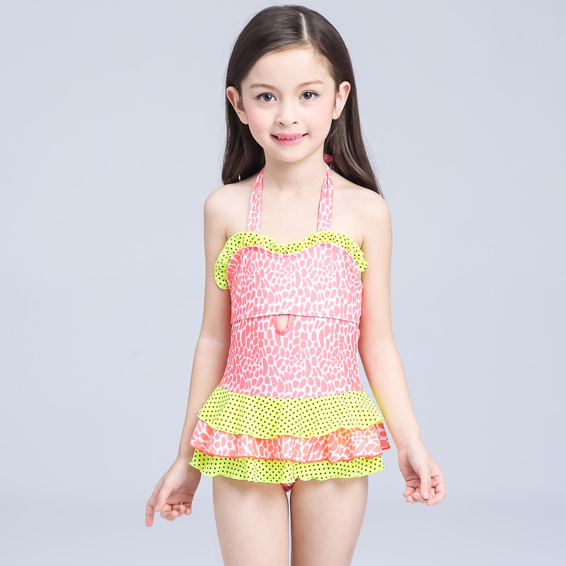 2016 New Summer Cute Child Bikini Swimsuit Swimwear High -6526