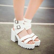 สุภาพสตรีหวานแพลตฟอร์มรองเท้าแตะรองเท้าส้นหนาเปิดนิ้วเท้ารองเท้าขนาดใหญ่ขนาด34-43