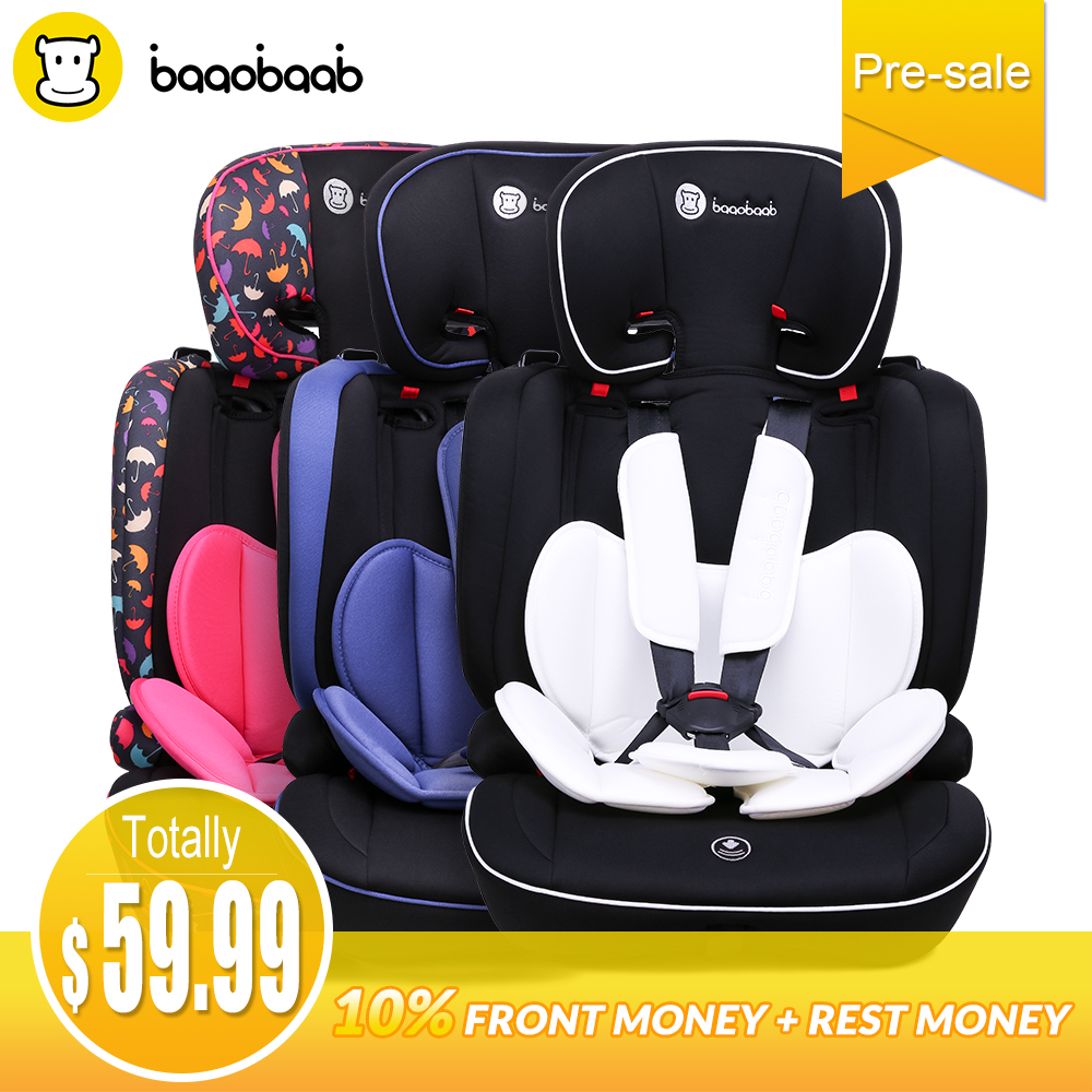 Baaobaab BA05A 9 Month -12 Years Old Child Car Seat Forward Facing 9-36 kg Five-Point Harness Baby Booster Safety Seats beibei cassie lb 363 car seats between 0 and 4 years old