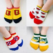 5 пар носков с милым животным принтом мягкие хлопковые носки с рисунками для маленьких мальчиков и девочек милые модные носки весна-осень