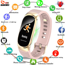 LIGE Women Watches LED Touch screen IP67 Waterproof Smart bracelet Heart Rate Monitor Pedometer Fitness tracker For Android iOS(China)