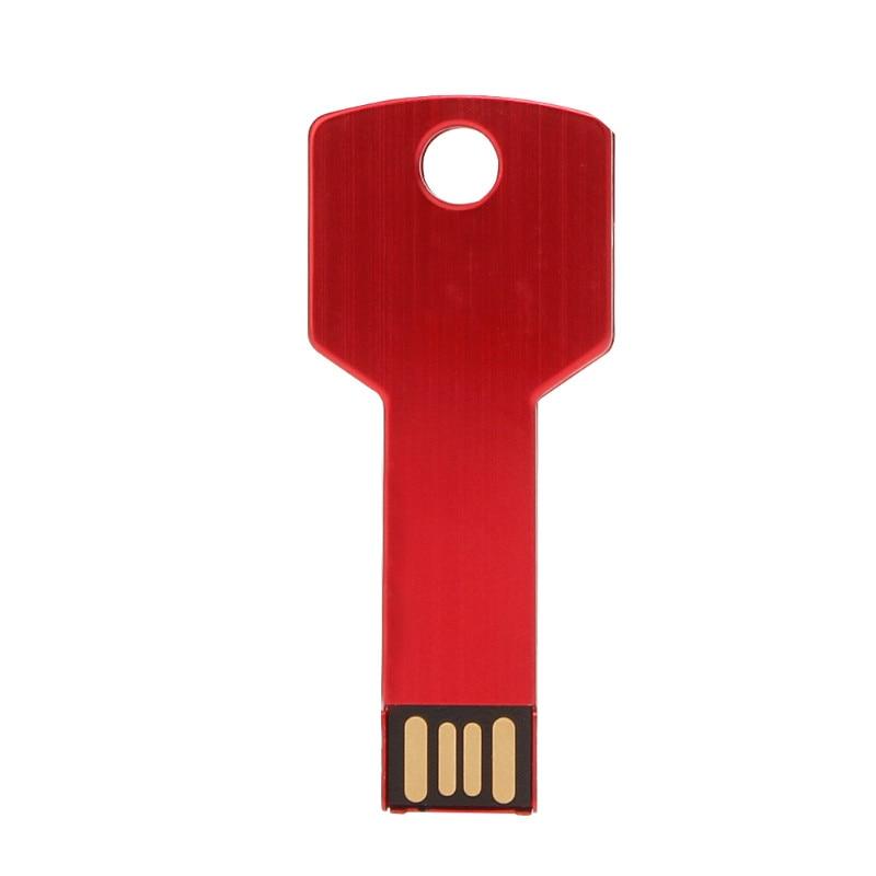 Image 3 - Metal Key USB Flash Drive 64GB Real Capacity Pendrive 32GB U Disk 2.0 128GB 16GB 8GB 4GB Pen Drive Memoria Usb Free Custom Logo-in USB Flash Drives from Computer & Office
