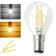 LED G45 Filament Light Bulb 4W B15 Base 220V LED Globe Ball Lamp Replace Vintage Chandelier Ceiling Fan Halogen Bulb