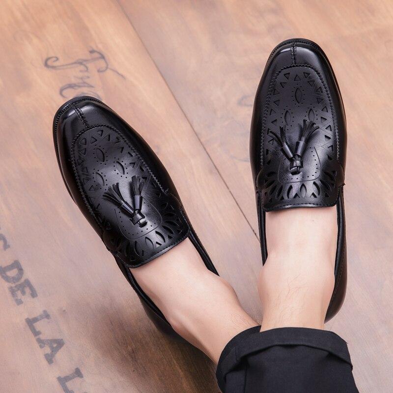 Shoes Noir Brun brown Homme Mode De En Cuir Chaussures Automne Nouveau Shoes Conduite Luxe Hommes Black Casual Cnfiia Adulte j3RqA54L