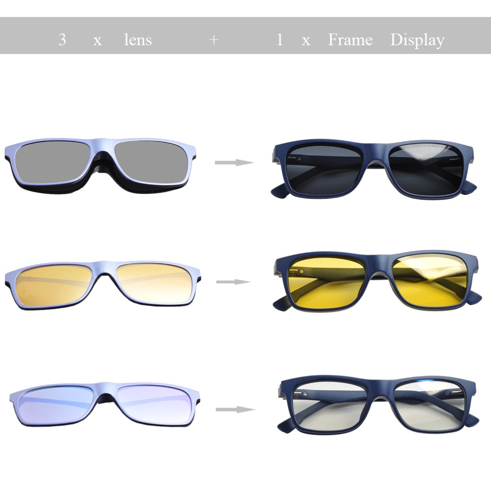 Image 5 - Kids Magnetic 3 clips Polarized Clip on Sunglasses Boys Polarized Sunglasses Kids Blue light Blocking Comuputer Glasses DD1478Boys Sunglasses   -