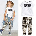 Hot Girls Summer Clothes Fashion Letter T-shirt+Pants Pullover Kids Hip Hop Clothing Children Clothes Sets