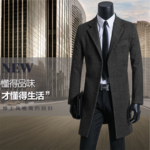 Men's clothing overcoat mens casual woolen coats suit single breasted trench coat coffee long winter coats men plus size S – 9XL