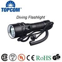 [Tàu miễn phí] 10 wát xml-t6 l2 u2 led lặn flashlight torch 80 m dưới nước không thấm l2 led torch flash light diver