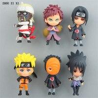 6 pcs/lot naruto anime action figure fridge magnets perfect quality anime figurine naruto toys for children