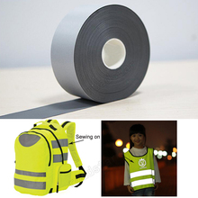5cm width T/C Reflective Fabric sew on clothes for Safety
