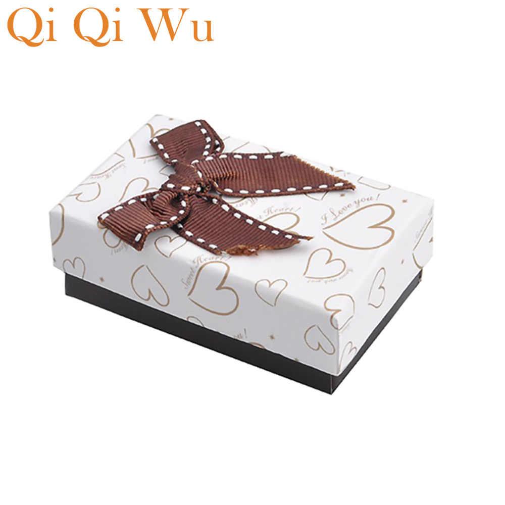 カフスやネクタイクリップのギフトボックスブラックボックスハート形紙箱ブレスレットやバングルギフトボックス
