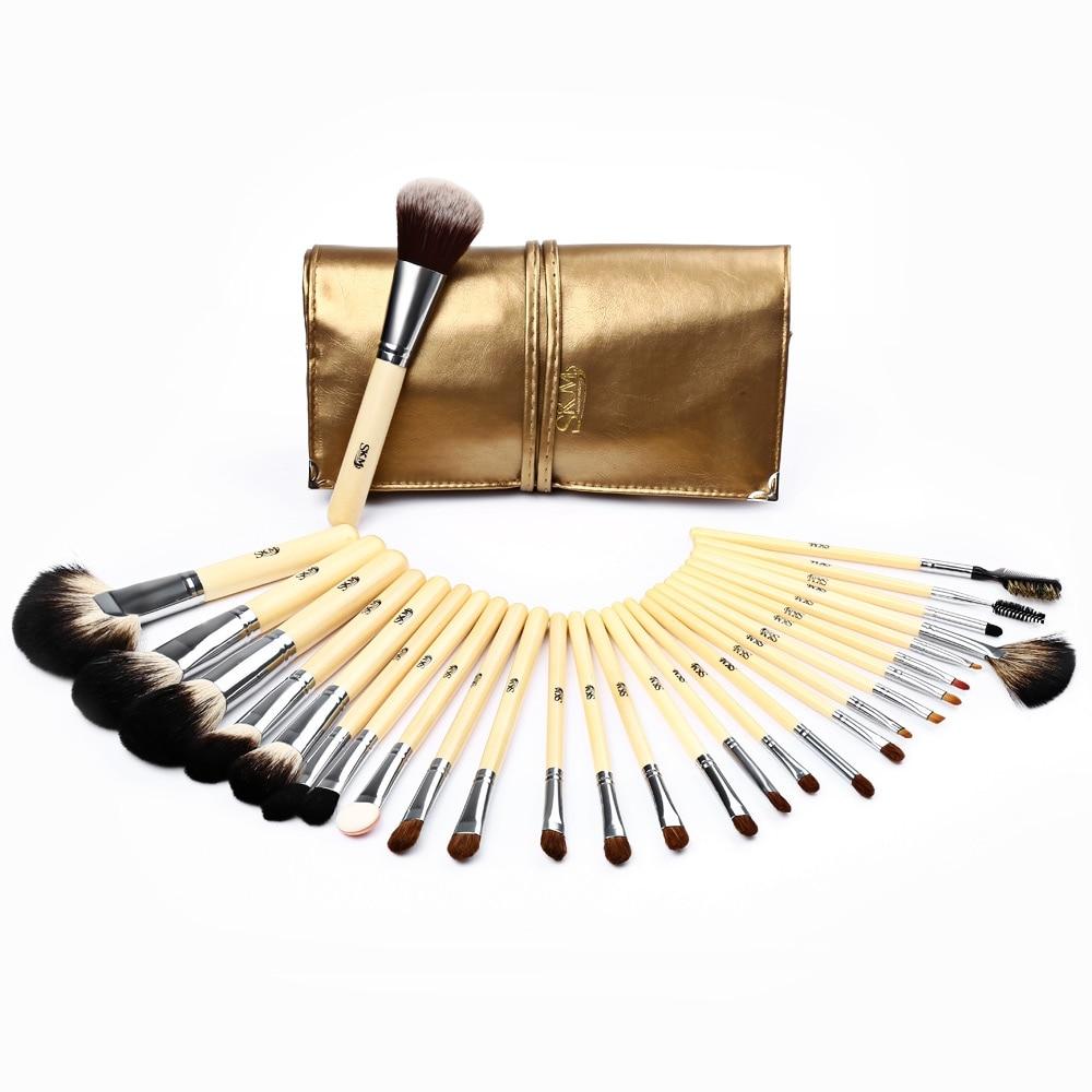 SKM Professional Makeup Brushes Set 32 pcs 28pcs Cosmetic Eyes Face Foundation Blush Highlighter Contour Brushes Makeup Kit Tool