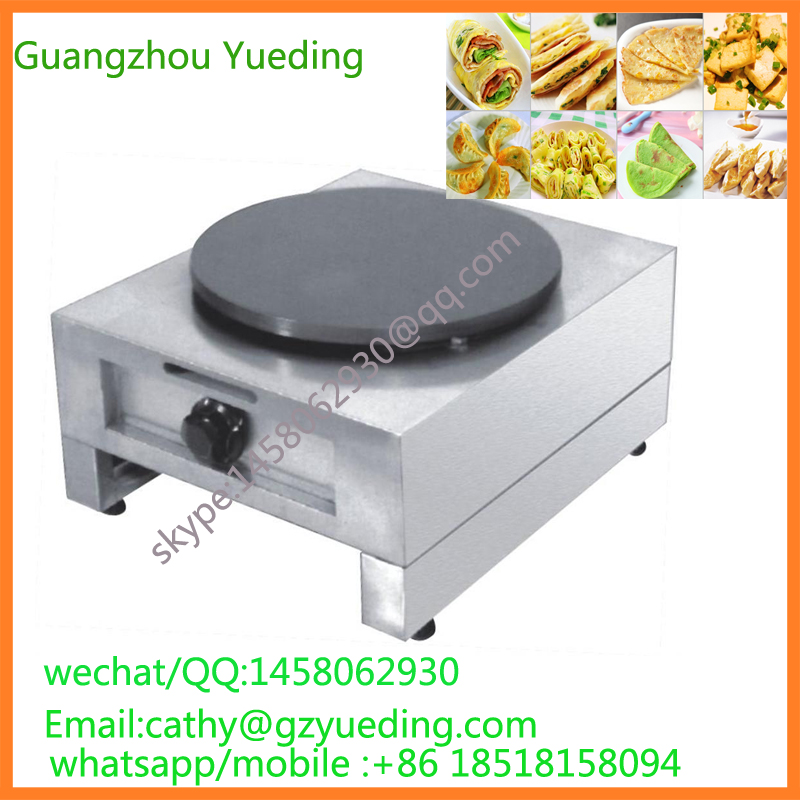 Commercial Single Head gas Crepe Maker/Roti Maker /industrial Stainless Steel Commercial Electric/Gas Crepe Maker prices jiqi stainless steel electric crepe maker plate grill crepe grill machine