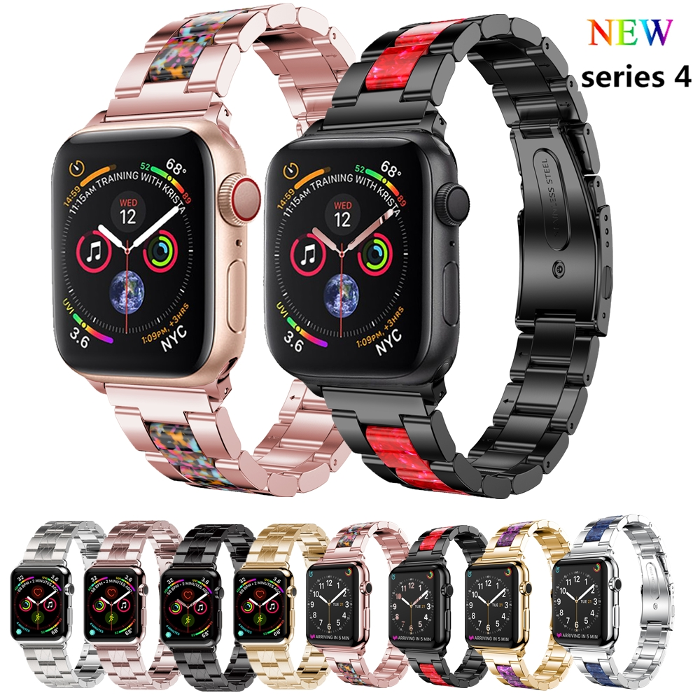 Stainless Steel For apple watch band 4 44mm 40mm correa aple watch 42mm 38mm Link Bracelet wrist Watchband iWatch series 4/3/2/1 nylon sport loop strap for apple watch band 4 44mm 40mm correa aple watch 42mm 38mm bracelet wrist bands iwatch series 4 3 2 1