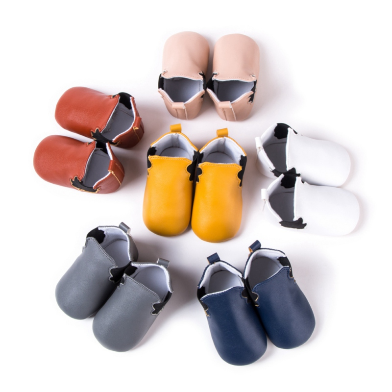 2018 New Pu Leather Baby Moccasins Shoes First Walkers Soft Sole Baby Girls Boys Shoes First Walkers Baby Boots New