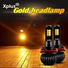 Xplus, супер яркий Автомобильный светодиодный противотуманный фонарь, сменная передняя противотуманная фара, стробоскоп H1 H3 H7 9005 9006 880 881, желтый, голубой, белый