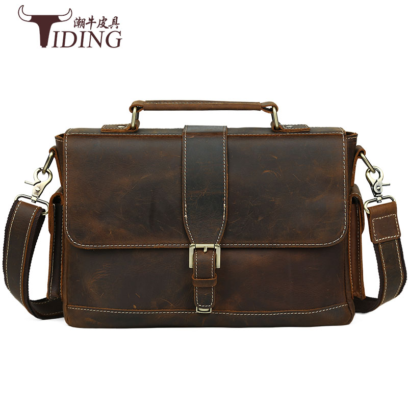 men briefcase genuine leather bag crazy horse brands vintage Messenger Bags 14 Laptop Handbags Cow Leather Business Bag Russian ylang vintage crazy horse cowhide briefcases men messenger bags 15 laptop handbags genuine leather briefcase business bag