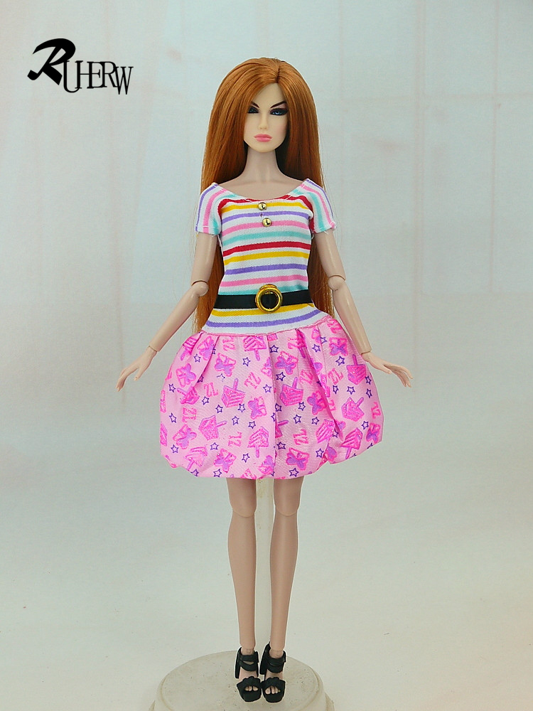 5-Pcs-Handmade-fashion-clothes-For-Barbie-Doll-dress-baby-girl-birthday-new-year-present-for-kids-4