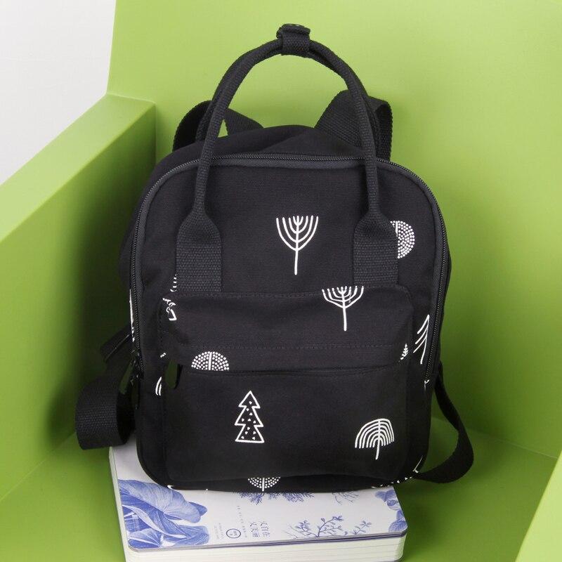 Nouveau Design japonais Mori fille sac à dos femmes Vintage frais avec des arbres imprimer grand sac d'école en toile femme sac de livre noir