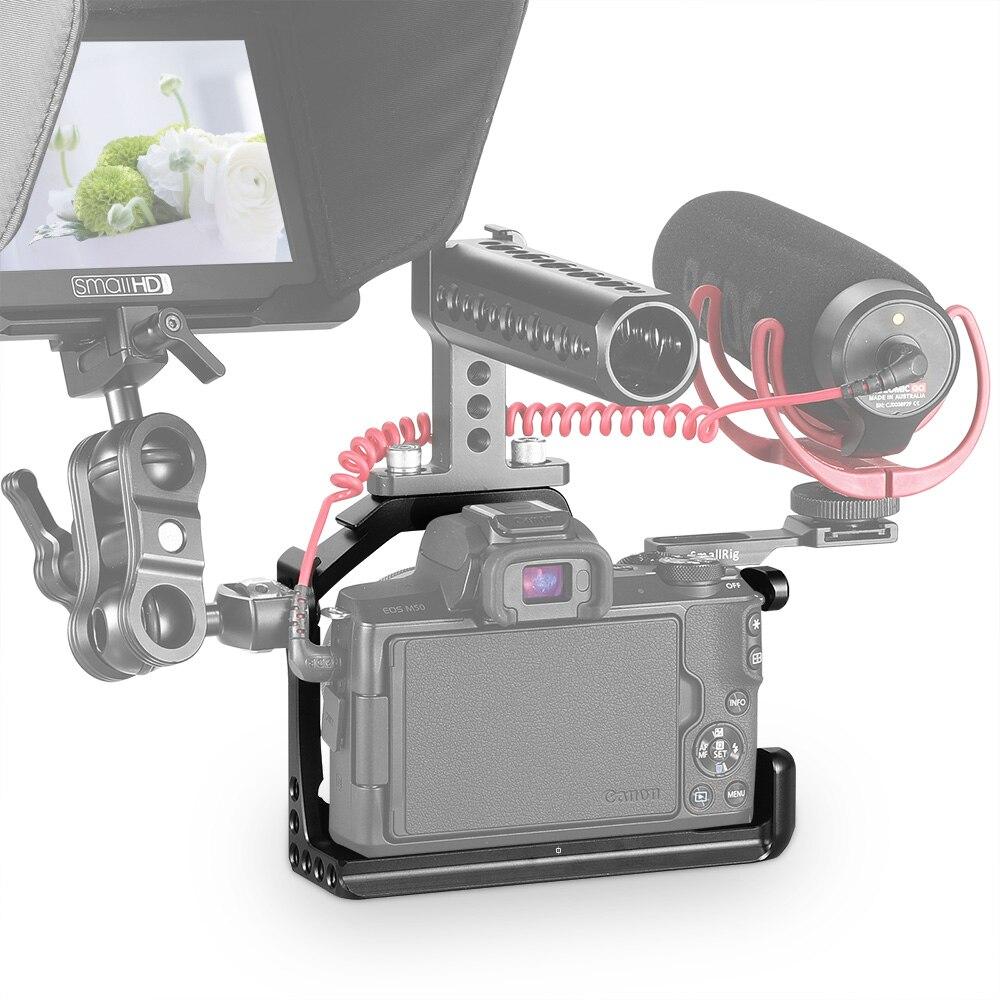 Cage SmallRig M50 pour Canon EOS M50 et M5 Cage pour appareil photo reflex numérique M5 étui de protection à dégagement rapide stabilisateur trépied plate-forme-2168 - 6