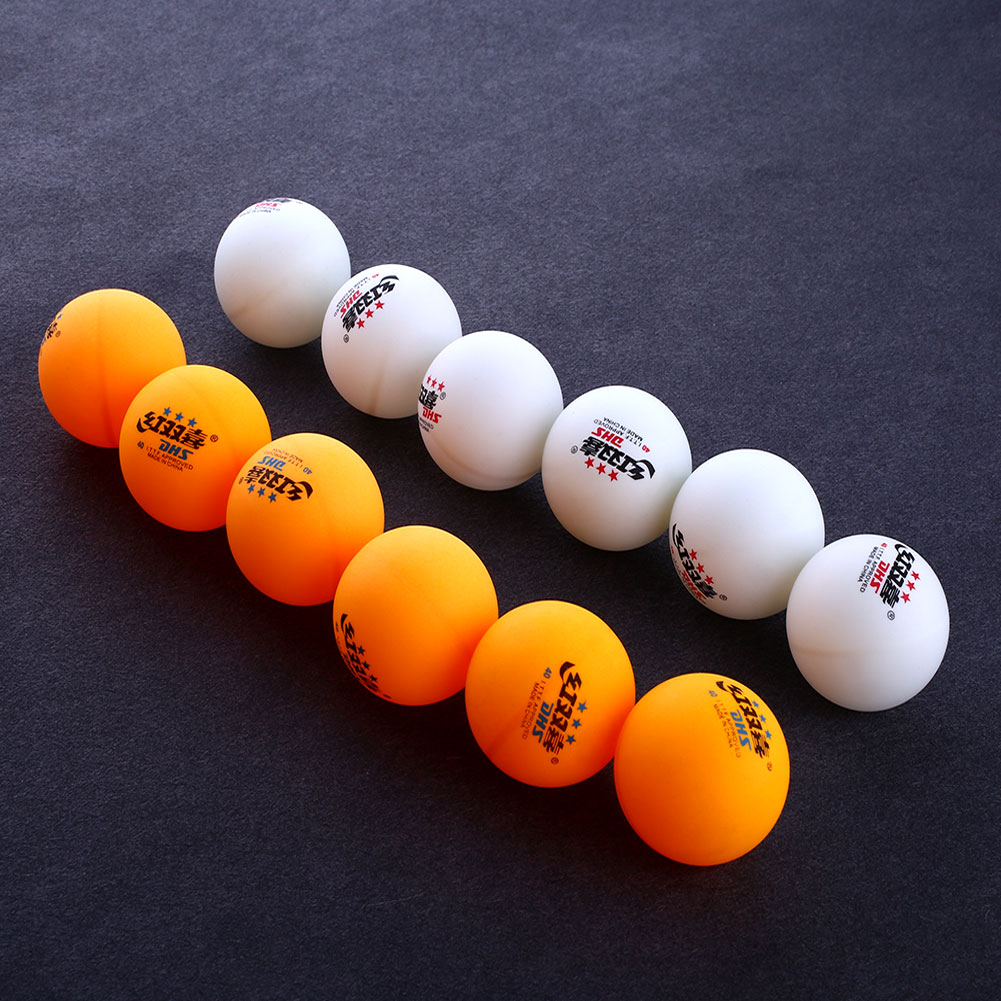 High Quality 1 Boxes 6 Pcs 3 Stars DHS 40MM Olympic Table Tennis Orange Yellow Ping Pong Balls Durable For Competition