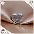 Gravura Filha Carta Trendy 925 Sterling Silver Coração Charme Filha Famosa Pulseira Europeia Adequada