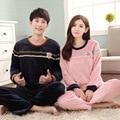 New arrive winter pajama couple pajama Sets Warm Flannel Loose Sleepwear Men & Lady Casual Home Clothing Pijama