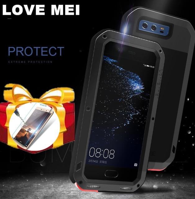 Huawei P30 P40 Pro P20 lite P10 Mate 30 Pro 20 10 Nova 4e 3e 4 durumda aşk MEI metal zırh alüminyum silikon su geçirmez kılıf