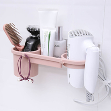 Strong Bathroom Hair Dryer Shelf Multifunctional Creative Ventilated Holders European Style Wall Mounted Type ABS Storage Rack antique european style copper wall mounted bathroom shelves square multifunctional storage rack with hair dryer shelf and hooks