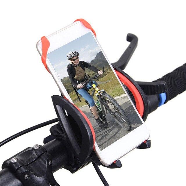 Universal Bike Phone Holder With Silicone Band MTB Bike Motorcycle Handlebar Mount Holder Support Bracket For Smart Phones New