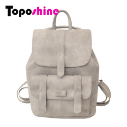 Toposhine famous brand backpack women backpacks solid vintage girls school bags for girls black pu leather.jpg 250x250